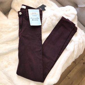 Hollister Plum Purple Jean Jeggings Size 0 / 24